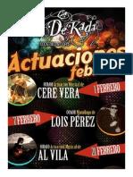 DEKADA ACTUACIONES FEBRERO 14