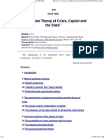 David Yaffe - The Marxian Theory of Crisis, Capital and the State