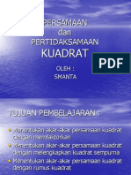 Persamaan & Pertidaksamaan Kuadrat PPT