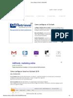 Cómo configurar Gmail en Outlook 2010