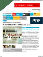 Richard Meier Model Museum, Richard Meier & Partners Architects LLP, World Architecture News, Architecture Jobs