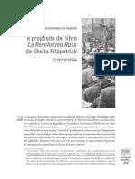 09_fitapatrickUna crítica liberal-conservadora a la revolución A propósito del libro  La Revolución Rusa  de Sheila Fitzpatrick