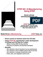 STEP NC E Manufacturing Using STEP Dave Loffredo