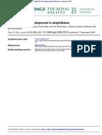 Multiple Overseas Dispersal in Amphibians