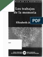 JELIN Elizabeth - Los Trabajos de La Memoria
