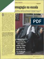 Contra a demagogia na escola - Entrevista com Nuno Crato (Ministro da Educação e Ciência em Portugal)