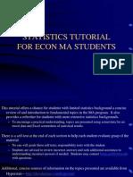 MA Statistics Tutorial