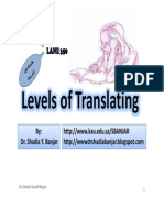 Levels of Translating