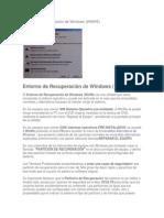 Entorno de Recuperación de Windows