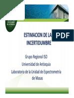 Presentacion Incertidumbre de La Medicion