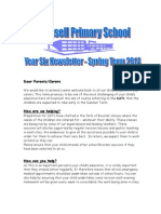 Year 6 Newsletter Spring 2014 Downsell Primary