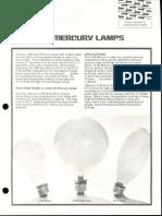 Sylvania Mercury 100-Watt Compact Lamps Bulletin 1973