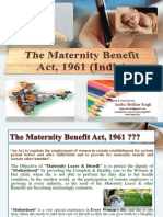 """PPT on """"Maternity Benefit Act 1961"""" of India."""