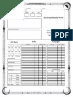 4e Editable Character Sheet v3.0