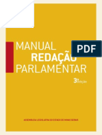 Manual de Redacao Parlamentar MG