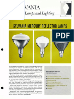 Sylvania Mercury Reflector Lamps Bulletin 1966