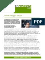 Crowdfunding per aziende