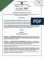 Decreto 124 Del 28 de Enero de 2014