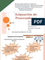 Asignación de Procesadores - sistemas distribuidos unerg