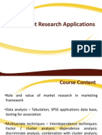 Market Research Applications Lecture 1