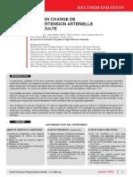 Recommandation SFHTA 2013 Prise en Charge HTA de lAdulte