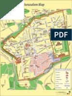 The Old City of Jerusalem Map