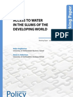 Access to Water in the Slums of the Developing World