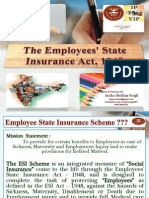 "PPT on ""Employee's State Insurance Act 1948"" of India."