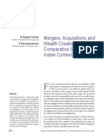 Mergers, Acquisitions And