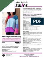 Bell Single-Sleeve Shrug Crochet Pattern