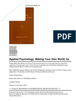 Applied Psychology- Making Y