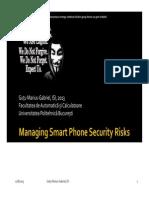 SCIGutuMariusGabriel ISI Managing Smart Phone Security Risks