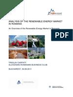 Analysis of the Renewable Energy Market in Romania