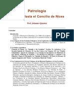 Johannes Quasten - Patrologia T.1 - Hasta El Concilio de Nicea- Espanhol
