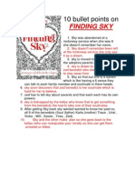 10 Bullet Points on FINDING SKY