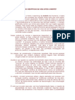 EXISTEM EVIDÊNCIAS CIENTÍFICAS DA VIDA APÓS A MORTE.doc