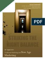 MarkEdge_Traditional Marketing and New Age Marketing Striking Balance_IIM Kashipur_Kunal Delwadia
