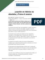 El Universal - Nación - SEP_ educación en México es obsoleta y frena el avance