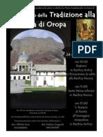 Locandina Primo Pellegrinaggio Della Tradizione Oropa