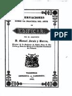 1841 M. Fornes Gurrea. Practica Del Arte de Edificar