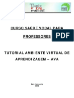 Tutorial Ava Alunos 2013 Saude Vocal