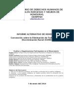 Informe del Observatorio de los Pueblos Indígenas y Negros de Honduras a la CERD (enero 2014)