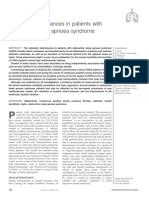 Metabolic disturbances in patients with