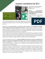 Los Mejores Inventos Colombianos de 2013