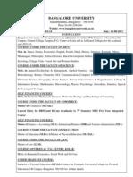 Pg Admission 2013-2014 Bangalore University