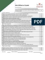vex 2014 inspection checklist