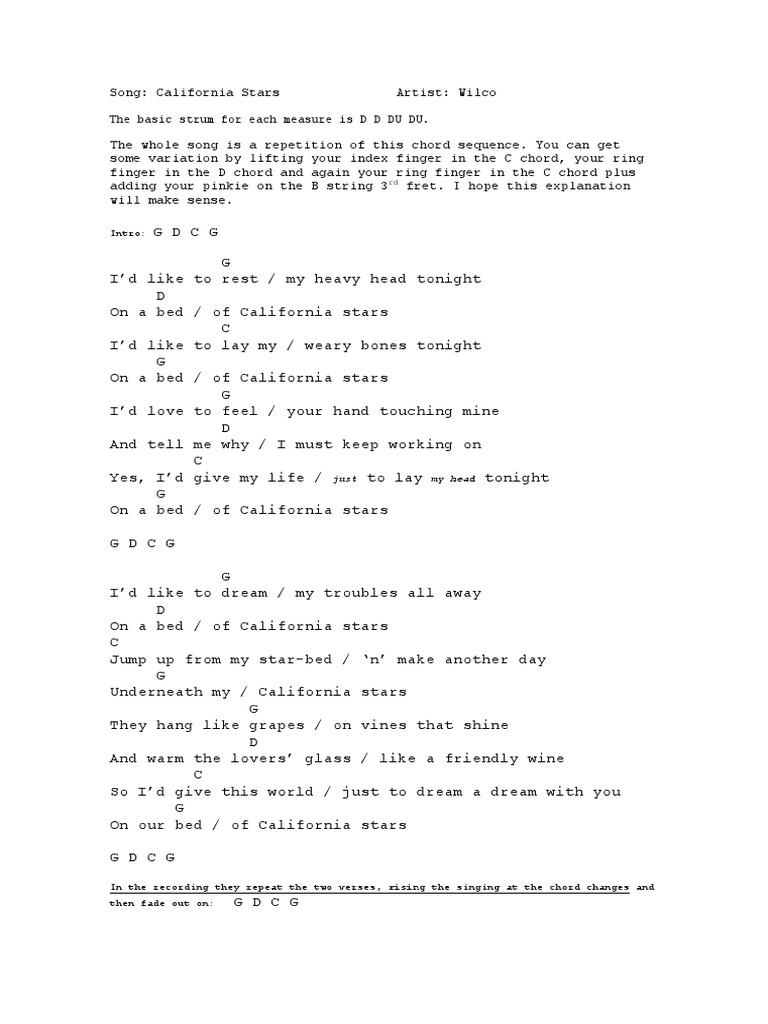 California Stars by Wilco