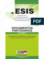 Documento Tesis Partidarias 2012