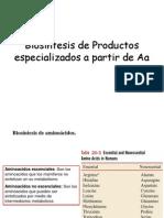 Biosintesis de Aa y Proteinas de Interes Medico