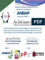 certificado de Jean Carlos Lacouture Vega